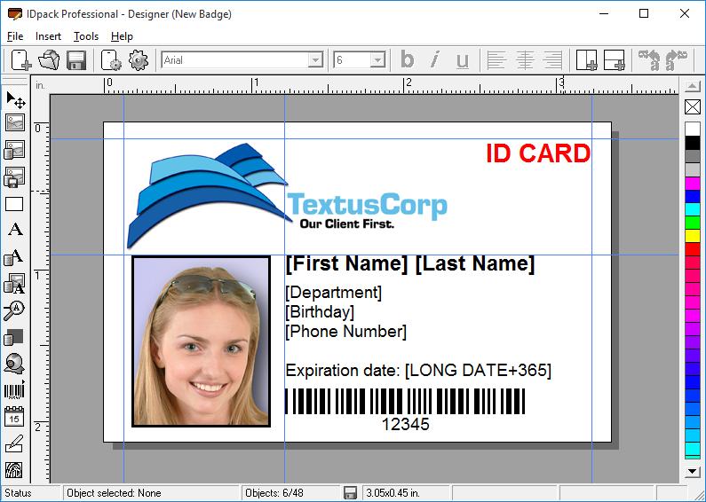idpack designer id card